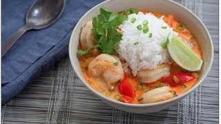 Cook With Me & Review Blue Apron Thai Coconut Shrimp Soup
