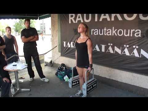 Rautakoura 2x75kg SM 2011 Anna Karrila