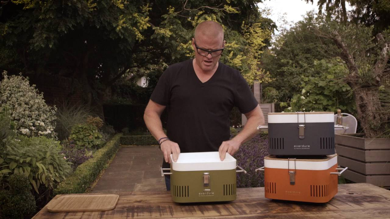 casual shoes united kingdom buying now CUBE Charcoal Barbeque, Everdure BBQ by Heston Blumenthal