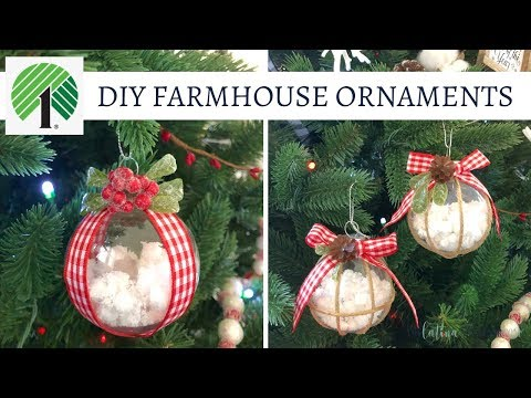 DIY Farmhouse Ornaments - Collab with Happliy Thriving Heidi