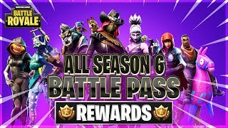 ALL SEASON 6 BATTLE PASS REWARDS UNLOCKED! Tier 100/SKINS, GLIDERS, EMOTES & MORE! (Fortnite: BR)
