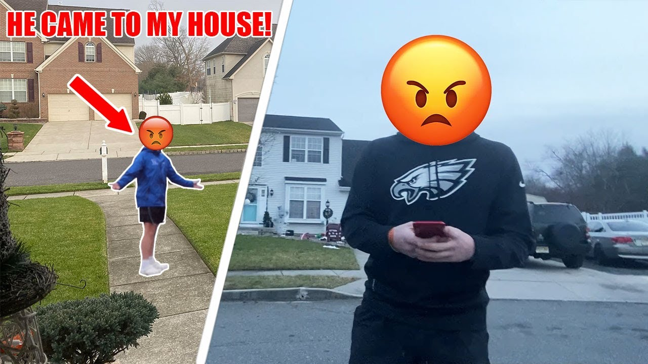 THE KID WHO VANDALIZED MY CAR CAME TO MY HOUSE...(CAUGHT ON CAMERA)