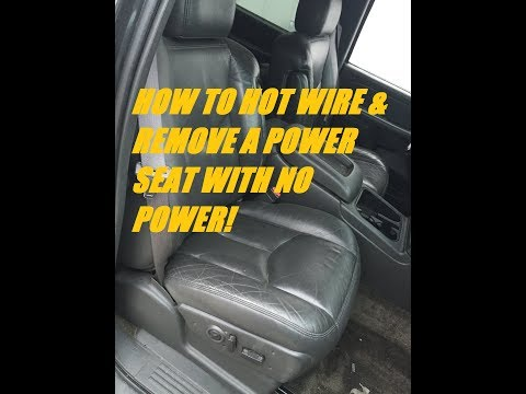 how to hot wire a power seat silverado tahoe suburban 1999 2006 junk yard removal the easy way! for power seat diagram wiring diagram cadillac power seat 2001 #14