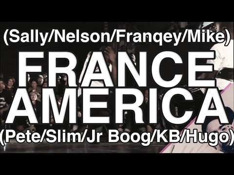 France (Sally/Franqey/Nelson/Mike) vs America (Pete/Slim/Kid Boogie/Jr Boog/Huge) with Commentary