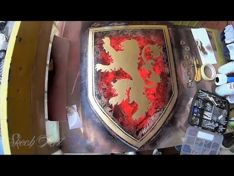 Game of Thrones - SPRAY PAINT ART - House of Lannister - YouTube