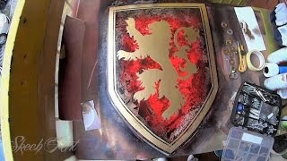 Game of Thrones - SPRAY PAINT ART  - House of Lannister