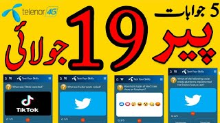 19 July 2021 Questions and Answers | My Telenor Today Questions | Telenor Questions Today Quiz App screenshot 4