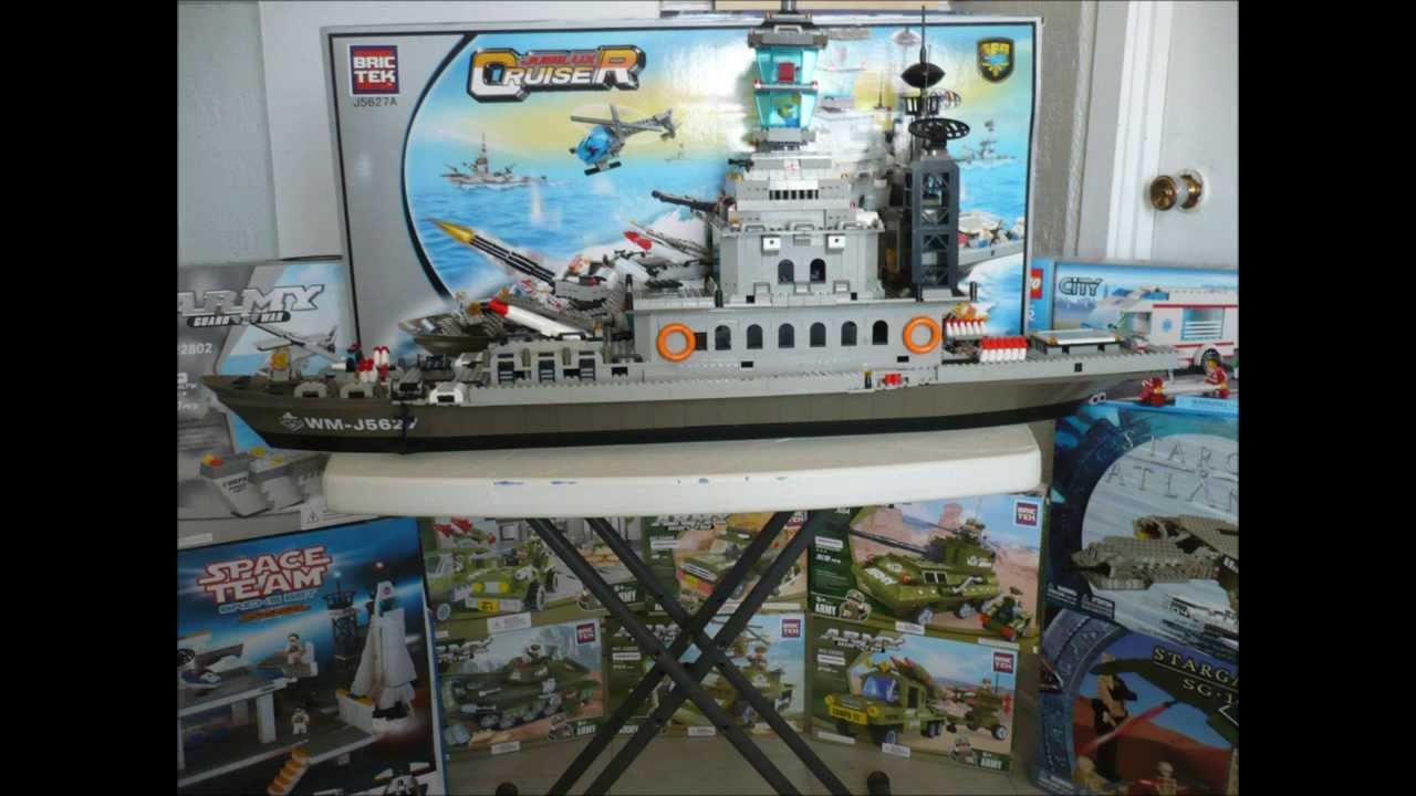 bateau de guerre en bric lego