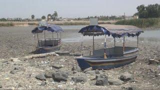 أخبار حصرية - إحتكار #داعش مياه الآبار والسدود أدى لجفاف بحيرة المزيريب بريف درعا