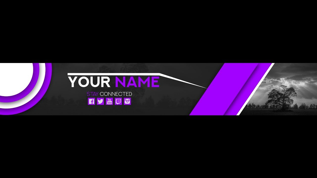 Free Banner Template For Youtube Channel 16 Photoshop I Download 20172018
