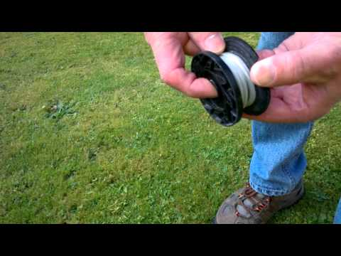 Winding Line onto a String Trimmer Spool
