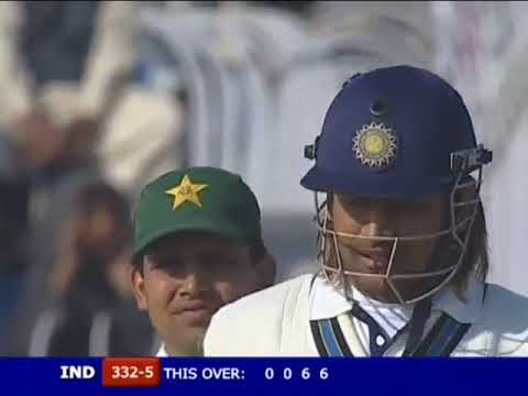 M.S Dhoni - First Test Century - 148 vs Pakistan 2nd Test 2006 @ Faisalabad