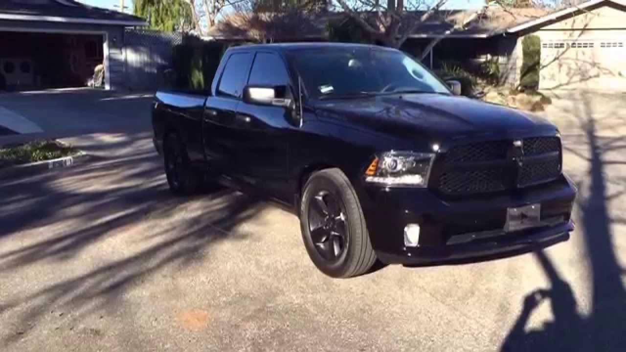 2015 ram black express special edition lowered 2 4 window tint stubby antenna exahust youtube