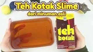 Cara Membuat Teh Kotak Slime dari Minuman Asli! | Teh Kotak Slime Tutorial