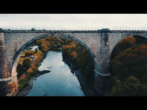 victoria Bridge Viaduct, Fatfield, River wear, Washington, tyne and Wear UK DJI mini mavic drone