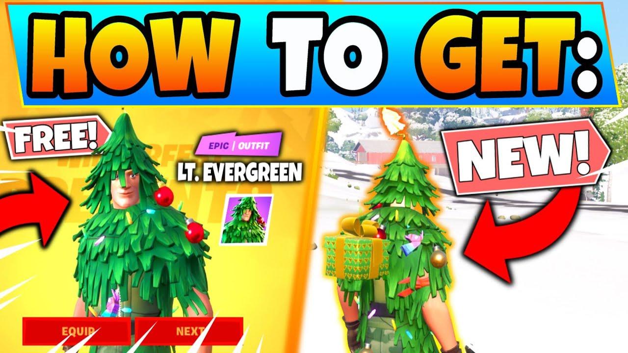 HOW TO GET TREE SKIN in Fortnite FREE (LT EVERGREEN)! New Update Skin in Battle Royale!