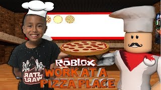 Gaming With Nik Lets Play ROBLOX! Work At A Pizza Place I Crashed Into A Car Almost Fell Into Water!
