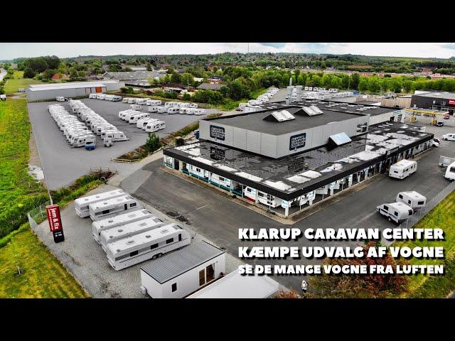 klarup Caravan Center set fra luften - masser af campingvogne