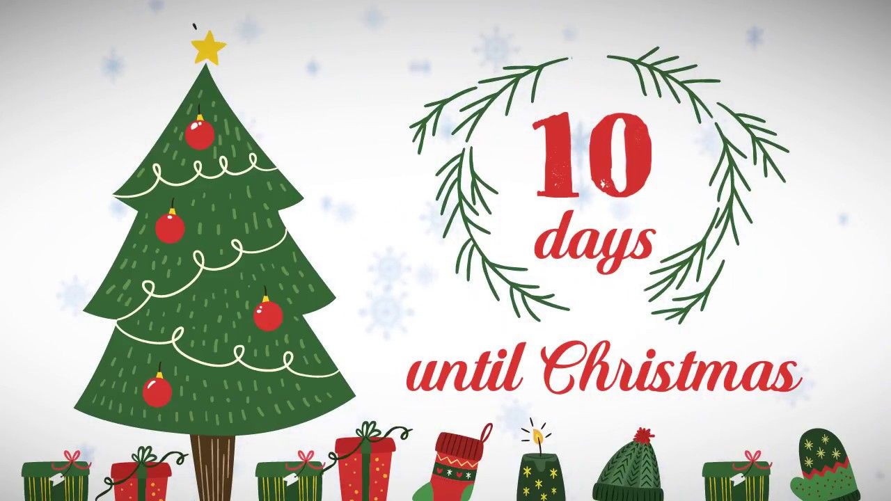 Until Christmas 10 Weeks Till Christmas.Xmas Counter Days Until Christmas 10