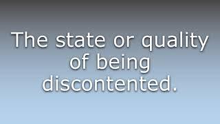 Discontentedness