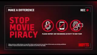 HOYTS Piracy Notification In Cinema