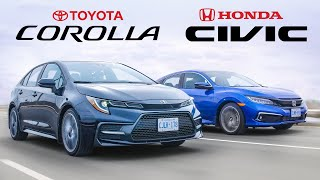 Battle of the Best Selling Cars  2020 Honda Civic vs Toyota Corolla