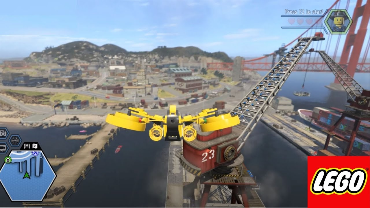 How Big Is The Map In Lego City Undercover Fly Across The Map Youtube