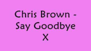 Chris Brown - Say Goodbye With Lyrics