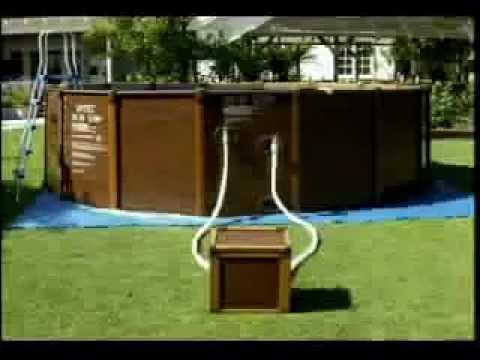 video di montaggio piscina intex sequoia spirit tipo legno. Black Bedroom Furniture Sets. Home Design Ideas