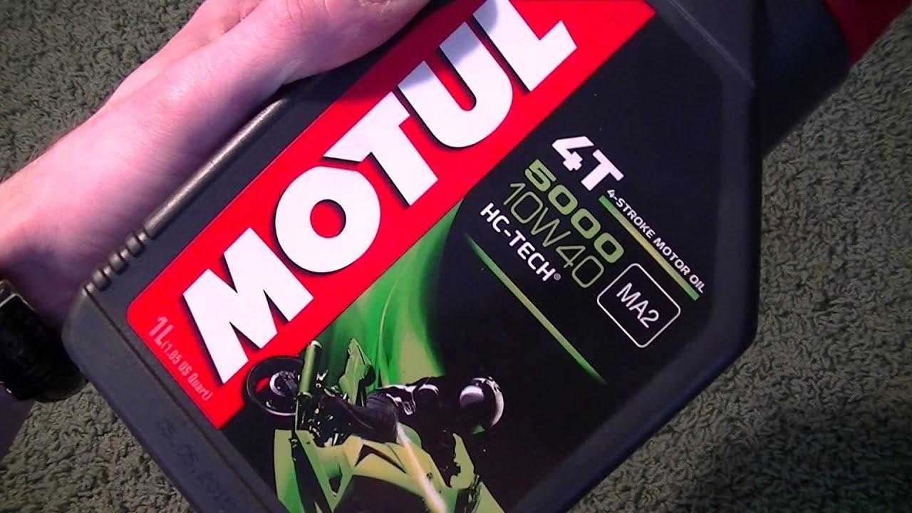 Semi Synthetic Oil >> Motul 5000 4T 10W40 HC-Tech Semi Synthetic Motorcycle Engine Oil. motor oil - YouTube