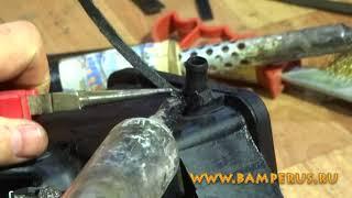 видеоурок ремонта материалами BAMPERUS бачка гидроусилителя а/м Mercedes-Benz Sprinter