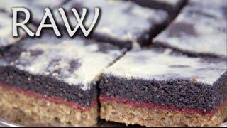 Citrónová poleva - RAW recept - makový řez 3. díl