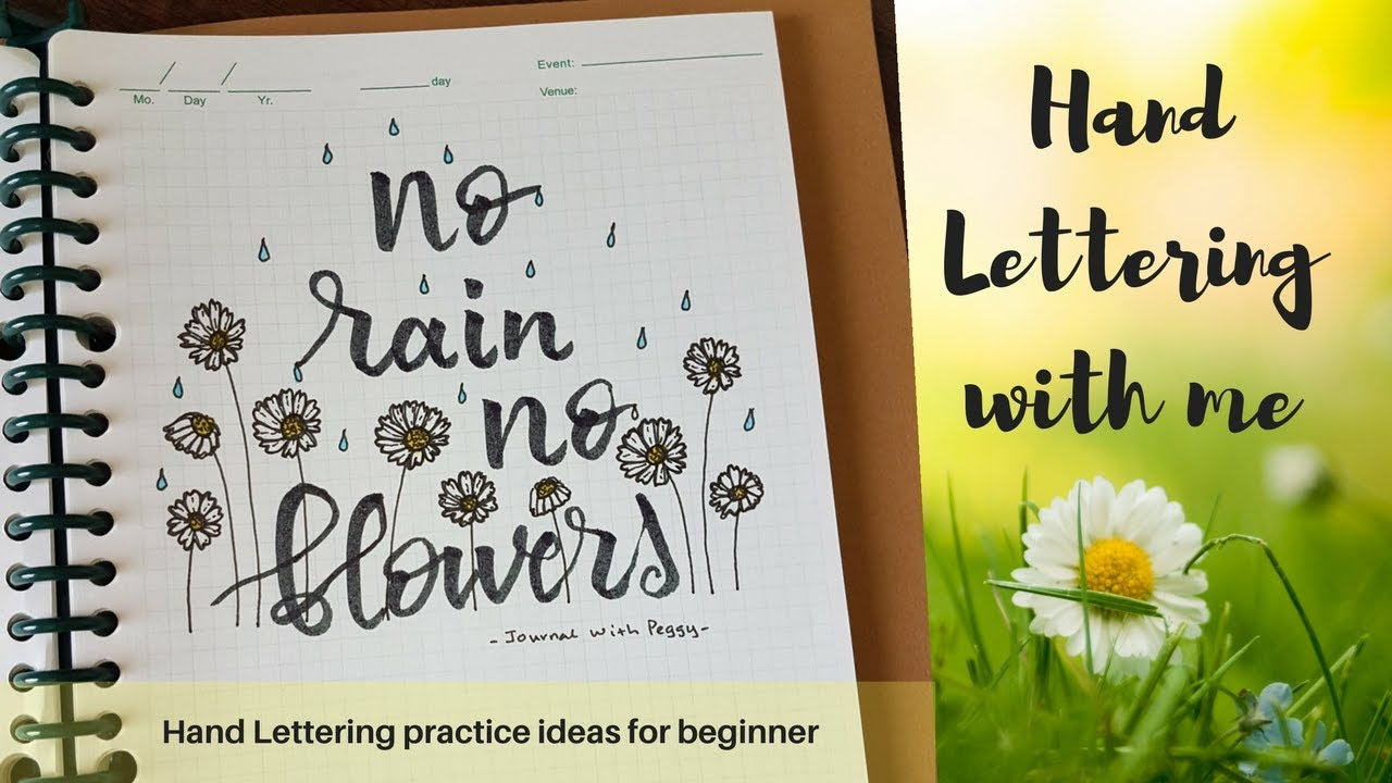Hand lettering Practice with me | Ideas for Beginners