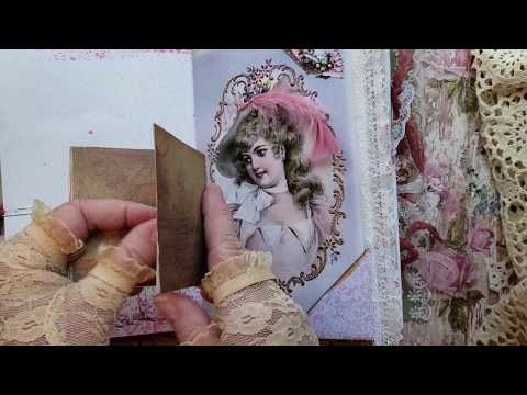 """*Sold* Design team project for Studio 28E, Shabby Chic junk journal,  """"Beatrice"""", Pam's Paper Place"""