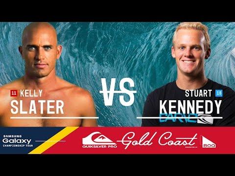 Kelly Slater vs. Stuart Kennedy - Quiksilver Pro Gold Coast 2016