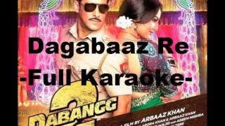 Dagabaaz Re Full Clean Karaoke With Lyrics - Dabangg 2....x...x... :) :)