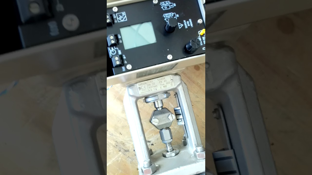 Samson 3730-3 positioner calibration youtube.