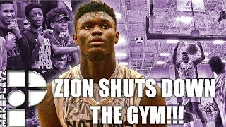 Zion williamson shuts down the gym in final game of summer!