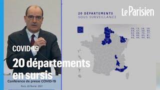 Covid-19 : la carte des 20 départements placés sous «surveillance renforcée»