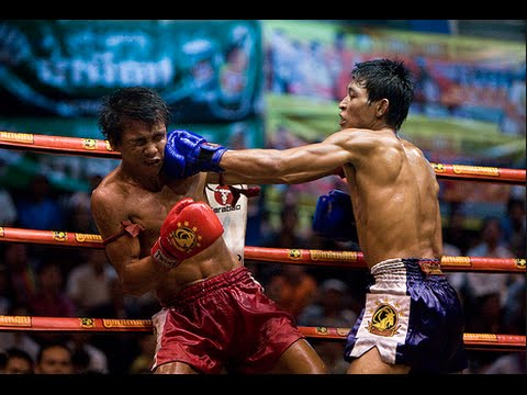 Boxing KHMER vs CHINESE at TV3 Cambodia stage | Cambodian kickboxing 2014