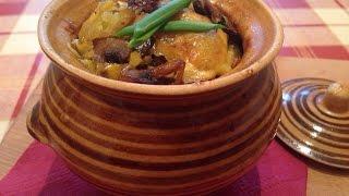 Картошка с грибами в горшочках - рецепт приготовления картофеля с грибами в духовке