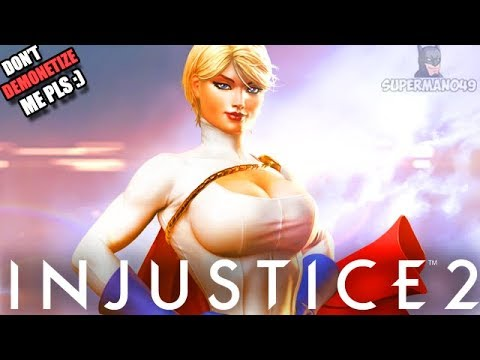 "THE ULTIMATE WAIFU! POWER GIRL STEPS IN - Injustice 2 ""Scarecrow"" & ""Power Girl"" Gameplay"