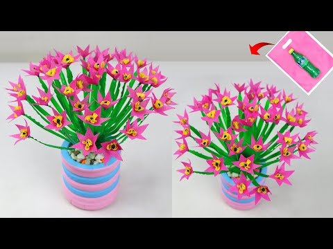 DIY Shopping bag flower bunches || Best out of waste idea || Plastic bottle flower bunches