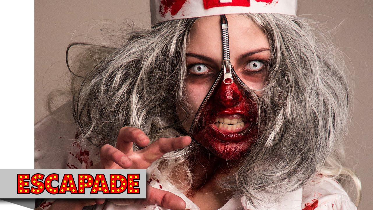 Zombie Zipper Face Halloween Makeup Tutorial - Halloween Makeup ...