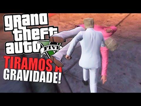 GRAVIDADE ZERO! (BUG) - GTA 5 MOMENTOS ENGRAÇADOS