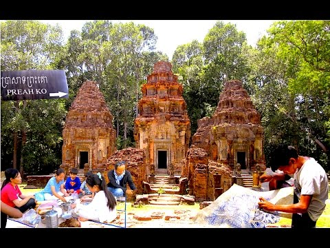 Travel from Phnom Penh to Siem Reap Province | Visit Preah Ko Temple and Skin Art Workshop