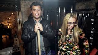James English gets a tour around the Sex Dungeon from Dominatrix Megara Furie