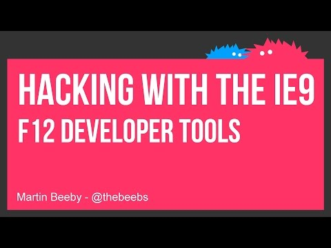 Hacking with the IE9 F12 Developer Tools