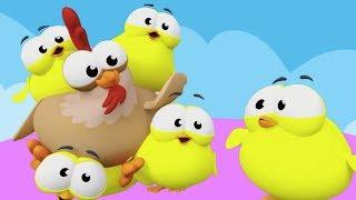 Beş Küçük Civciv   Mini Anima Çocuk Şarkısı   Küçük Çocuklar Sayıları Öğreniyor