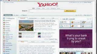 Hidden Button on Yahoo!